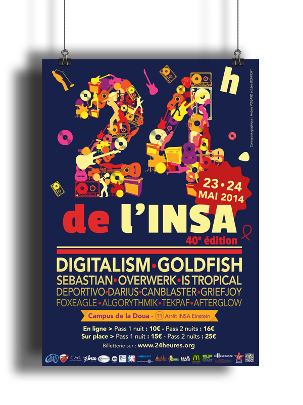 Poster 24h de l'insa édition 2014 version nuit